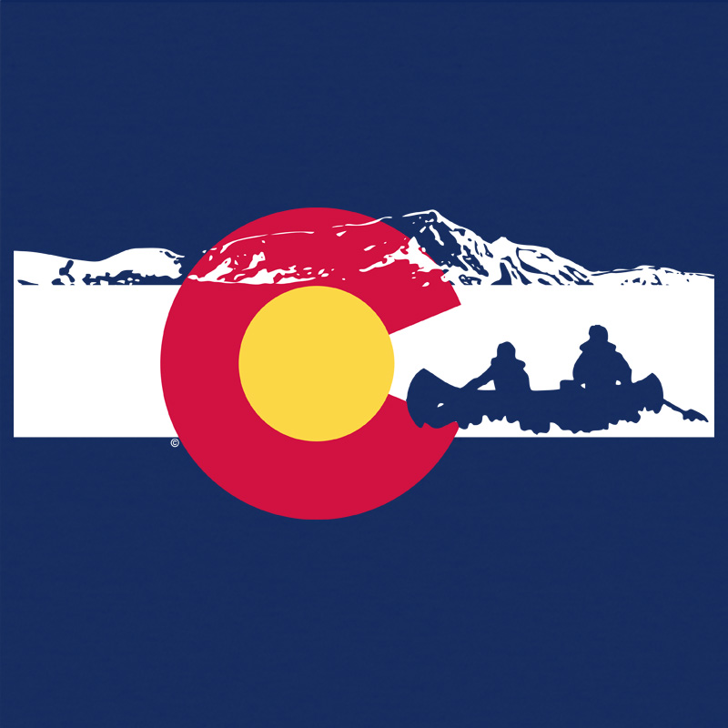 Canoeing Colorado Flag