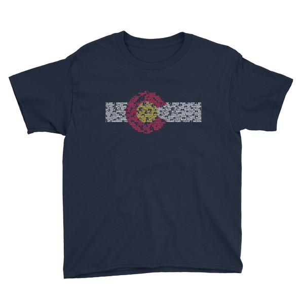 14ers Colorado Flag – Kid's T-Shirt