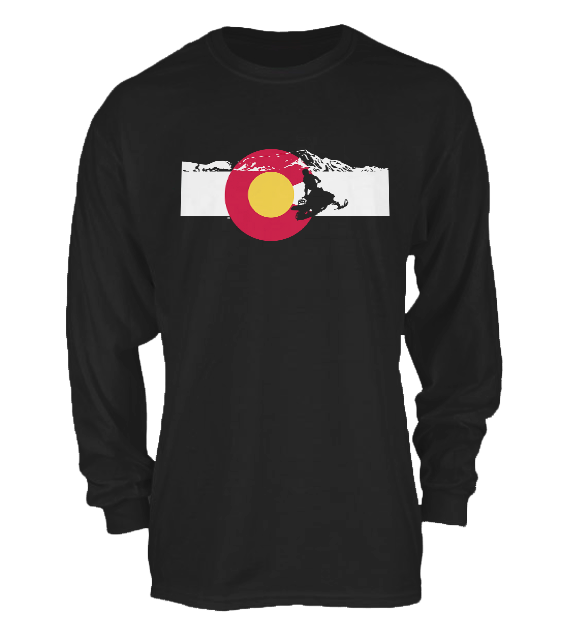 Snowmobiling 1 Colorado Flag – Longsleeve