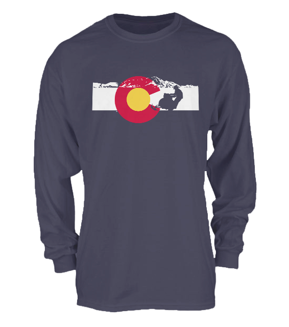 Snowmobiling 2 Colorado Flag – Longsleeve
